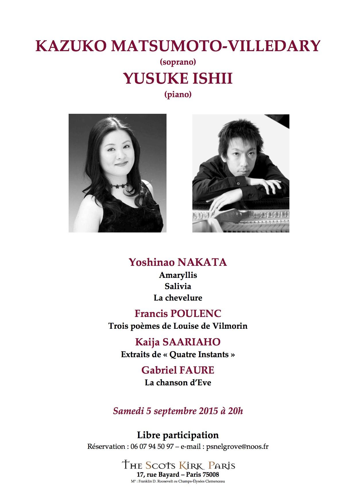 concert 5 septembre 2015