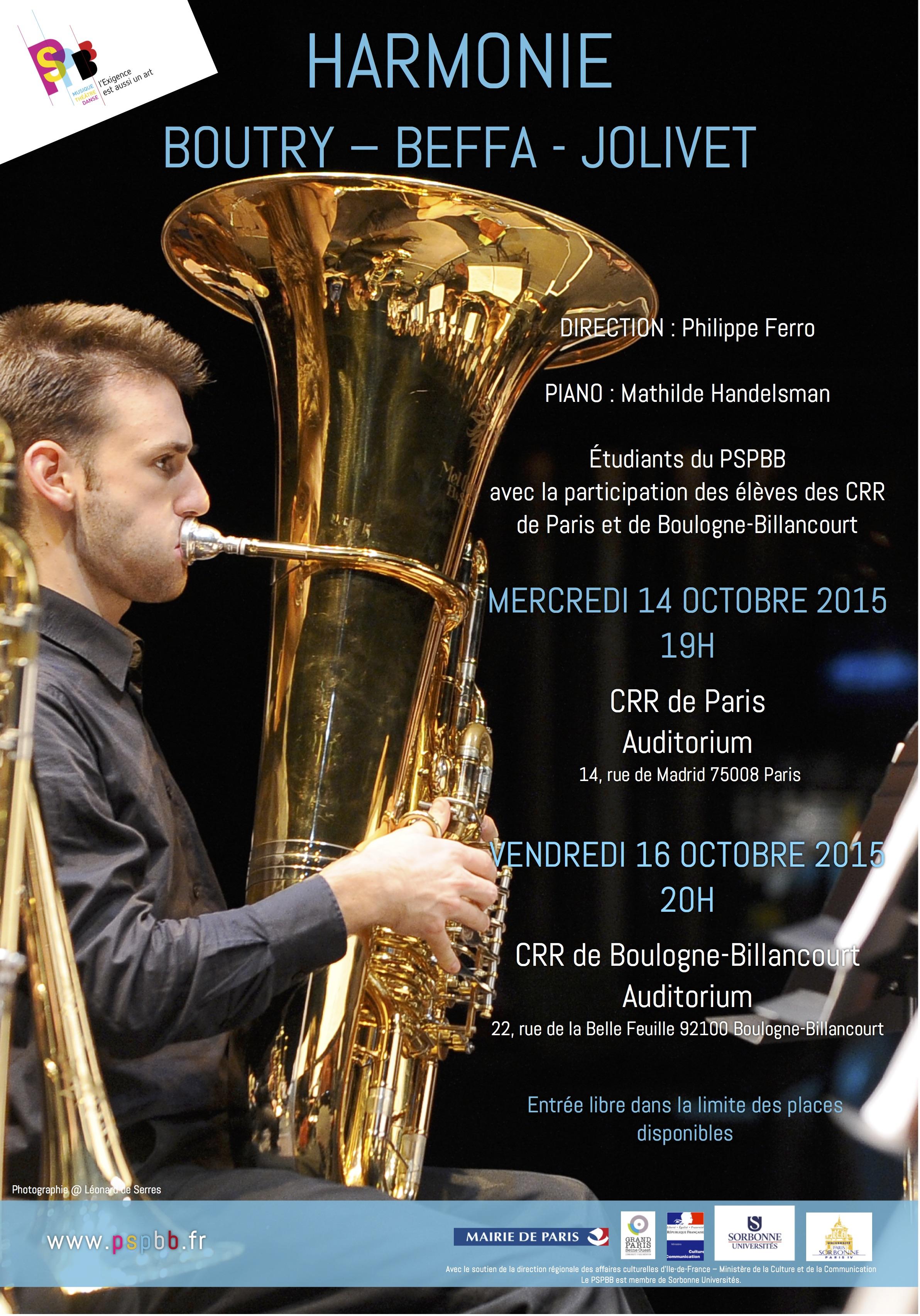 Concerts Harmonie