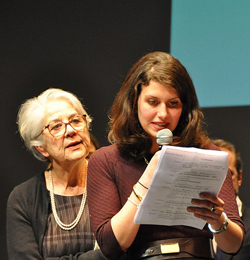 Isabella Vasilotta et Christine Jolivet Erlih, photo de M-F Gros de Beler