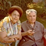 In Provence, resting, with his wife, in a friend's garden (1973).