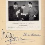 Jolivet, Baudrier, Lesur et Messiaen, ont fondé le groupe Jeune France en 1936. Ils firent paraître une plaquette où ils cosignèrent leur Manifeste.